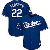 Majestic Men's 2017 World Series Replica Los Angeles Dodgers Clayton Kershaw Cool Base Alternate Royal Jersey