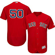 Majestic Men's Authentic Boston Red Sox Mookie Betts #50 Flex Base Alternate Red On-Field Jersey