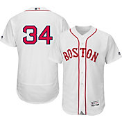 Majestic Men's Authentic Boston Red Sox David Ortiz #34 Flex Base Alternate Home White On-Field Jersey