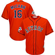 Majestic Men's 2017 World Series Champions Replica Houston Astros Brian McCann Cool Base Alternate Orange Jersey