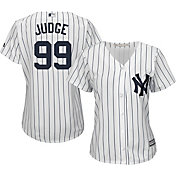 Majestic Women's Replica New York Yankees Aaron Judge #99 Cool Base Home White Jersey