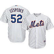 Majestic Youth Replica New York Mets Yoenis Cespedes #52 Cool Base Home White Jersey