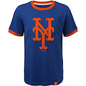 Majestic Youth New York Mets Ringer Royal T-Shirt
