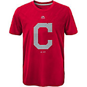 Majestic Youth Cleveland Indians Red T-Shirt