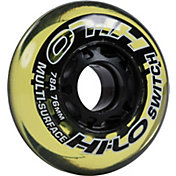 Mission HI-LO Switch Roller Hockey Wheels - 4 Pack