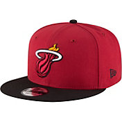 New Era Men's Miami Heat 9Fifty Adjustable Snapback Hat