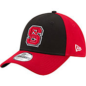 New Era Men's NC State Wolfpack Black/Red The League Blocked 9FORTY Adjustable Hat
