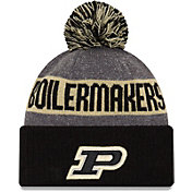 New Era Men's Purdue Boilermakers Black Sport Knit Beanie
