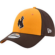 New Era Men's Wyoming Cowboys Gold/Brown The League Blocked 9FORTY Adjustable Hat