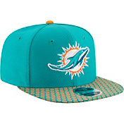 New Era Men's Miami Dolphins Sideline 2017 On-Field 9Fifty Snapback Adjustable Hat
