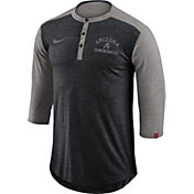 Nike Men's Arizona Diamondbacks Dri-FIT Three-Quarter Sleeve Henley Shirt