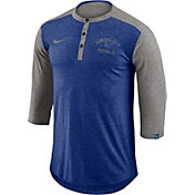 Nike Men's Kansas City Royals Dri-FIT Three-Quarter Sleeve Henley Shirt