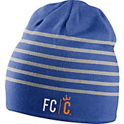 Nike Men's FC Cincinnati Wordmark Striped Royal Knit Beanie