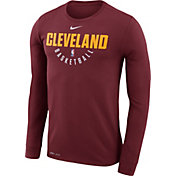 Nike Men's Cleveland Cavaliers Dri-FIT Burgundy Practice Long Sleeve Shirt