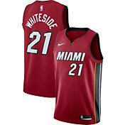 Nike Men's Miami Heat Hassan Whiteside #21 Red Statement Dri-FIT Swingman Jersey