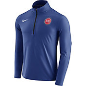 Nike Men's Detroit Pistons Dri-FIT Royal Element Half-Zip Pullover