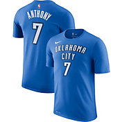 Nike Men's Oklahoma City Thunder Carmelo Anthony #7 Dri-FIT Blue T-Shirt