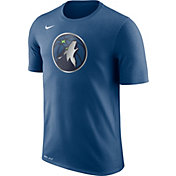 Nike Men's Minnesota Timberwolves Dri-FIT Blue Logo T-Shirt