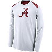 Nike Men's Alabama Crimson Tide Elite Shooter White Long Sleeve Shirt