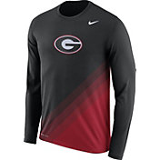 Nike Men's Georgia Bulldogs Black/Red Football Sideline Dri-FIT Long Sleeve Shirt