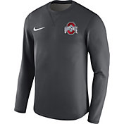 Nike Men's Ohio State Buckeyes Anthracite Modern Football Sideline Crew Long Sleeve Shirt