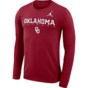 Jordan Men's Oklahoma Sooners Crimson Football Dri-FIT Facility Long Sleeve T-Shirt