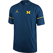Jordan Men's Michigan Wolverines Blue Football Sideline Hot Jacket