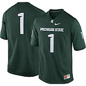 Nike Men's Michigan State Spartans #1 Green Game Football Jersey