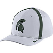 Nike Men's Michigan State Spartans White Aerobill Swoosh Flex Classic99 Football Sideline Hat