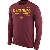 Nike Men's Iowa State Cyclones Cardinal Football Sideline Staff Legend Long Sleeve Shirt