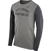 Nike Men's West Virginia Mountaineers Grey Heavyweight Elevated Essentials Long Sleeve Shirt