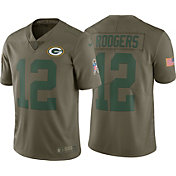 Nike Men's Home Limited Salute to Service Green Bay Packers Aaron Rodgers #12 Jersey