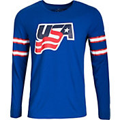 Nike Men's USA Hockey Buffalo Jersey Royal Long Sleeve Shirt
