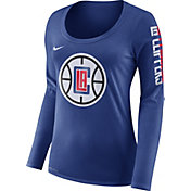 Nike Women's Los Angeles Clippers Dri-FIT Royal Logo Long Sleeve Shirt