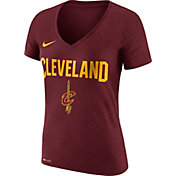 Nike Women's Cleveland Cavaliers Dri-FIT Burgundy Wordmark V-Neck T-Shirt