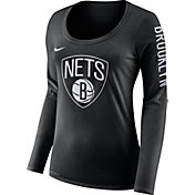Nike Women's Brooklyn Nets Dri-FIT Black Logo Long Sleeve Shirt