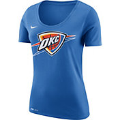 Nike Women's Oklahoma City Thunder Dri-FIT Blue Logo T-Shirt