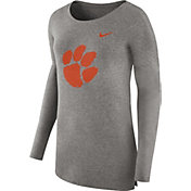 Nike Women's Clemson Tigers Grey Cozy Long Sleeve Shirt
