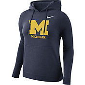 Nike Women's Michigan Wolverines Blue Club Pullover Hoodie