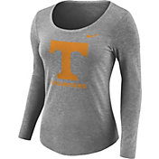 Nike Women's Tennessee Volunteers Gray Logo Tri-Blend Long Sleeve Shirt
