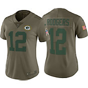 Nike Women's Home Limited Salute to Service 2017 Green Bay Packers Aaron Rodgers #12 Jersey