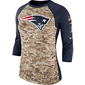 Nike Women's New England Patriots Salute to Service 2017 Camouflage Raglan