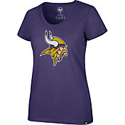 '47 Women's Minnesota Vikings Logo Purple Scoop Neck T-Shirt