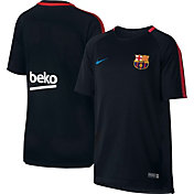 Nike Youth FC Barcelona Breathe Squad Black Shirt