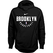 Nike Youth Brooklyn Nets Therma-FIT Black Practice Performance Hoodie