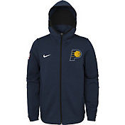 Nike Youth Indiana Pacers On-Court Navy Dri-FIT Showtime Full-Zip Hoodie