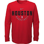 Nike Youth Houston Rockets Dri-FIT Red Practice Long Sleeve Shirt