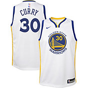 Nike Youth Golden State Warriors Stephen Curry #30 White Dri-FIT Swingman Jersey