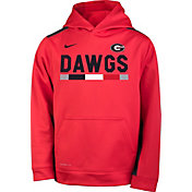 Nike Youth Georgia Bulldogs Red Football Sideline Pullover Therma-FIT Hoodie