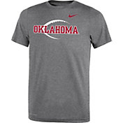 Nike Youth Oklahoma Sooners Grey Football Icon Legend T-Shirt